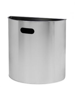 T773036 Brushed stainless steel wall mounted waste bin 20 liters