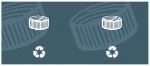 T774512 Etiquette auto-adhésive de CAPUCHONS PLASTIQUE