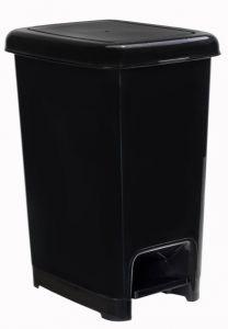 T909810 Poubelle à pedale en polypropylène noir 10 litres (multiples 18 pcs)