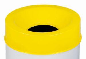 T770566 Tapa amarilla para cubo de basura ignífugo de 50 litros SOLO TAPA