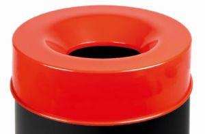 T770967 Tapa roja para cubo de basura ignífugo de 90 litros SOLO TAPA