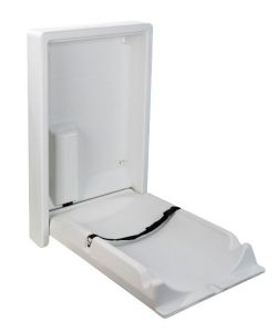 T117106 Vertical folding wall mounted baby changing station