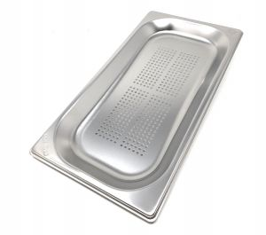 GST1 / 3P020F Gastronorm container 1/3 h20 drilled in AISI 304 stainless steel