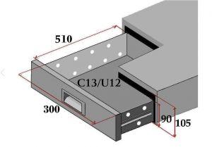 C13-FC Juego de 3 cajones para contadores refrigerados.