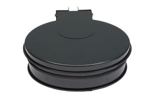 T601012 Bag holder with lid Grey steel