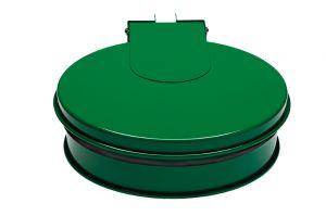 T601013 Support sac-poubelle avec couvercle acier Vert