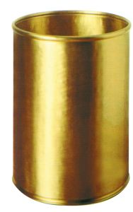 T700059  Cylindrical  brass Paper Bin 13 liters