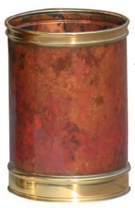 T700105 Cylindrical Paper bin Luxary Burned Bronze 13 liters