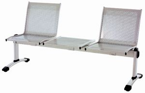 T703051 Steel Two-seat bench with table