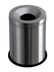 T770000 Corbeille anti-feu acier inox 15 litres