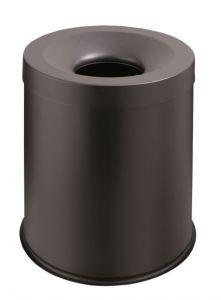T770001 Papelera anti-fuego metal negro 15 litros