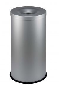 T770022 Papelera anti-fuego metal gris 90 litros