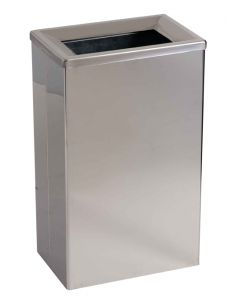 T773001 Poubelle pour toilette acier inox brillant avec seau 25 litres