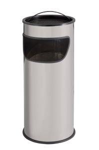 T775012 Papelera-cenicero 25 litros metal gris con arena