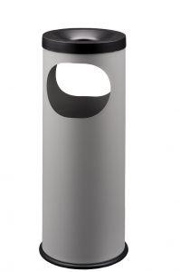 T775022 Cendrier-Corbeille métal gris Double ouverture 19 litres