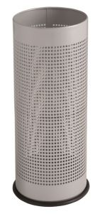 T775112 Grey steel perforated umbrella stand