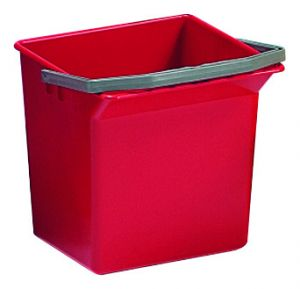 00003505 BUCKET 6 L WITH UPPER HANDLE - RED