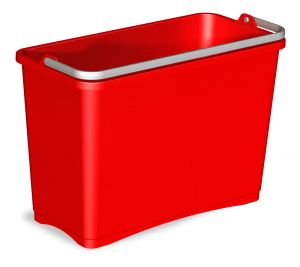 0R003252 BUCKET 8 L WITH UPPER HANDLE - RED