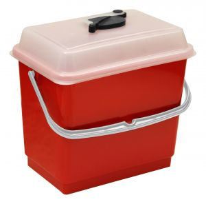 00003381 BUCKET 4 L WITH COVER - RED