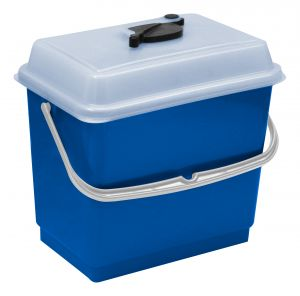 00003382 BUCKET 4 L WITH COVER - BLUE