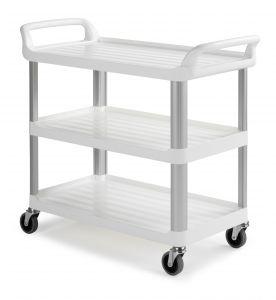 0F003700W Trolley Shelf 3700 - Blanco - Ruedas Ø 100 mm