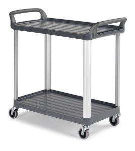 0F003730E Trolley Shelf 3730 - Gris - Ruedas Ø 100 mm