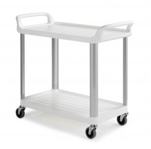 0F003730W Trolley Shelf 3730 - Blanco - Ruedas Ø 100 Mm