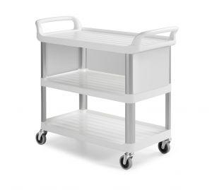 0F0B3700W Trolley Shelf B3700 - Blanco - Ruedas Ø 100 mm