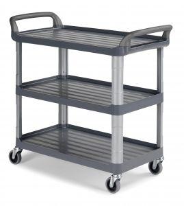 0F003800E Trolley Shelf 3800 - Gris - Ruedas Ø 100 mm