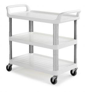 0F003800Wt Shelf 3800 - Bianco - Ruote Ø 125 Mm