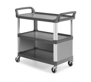 0F0C3700E Trolley Shelf C3700 - Gris - Ruedas Ø 100 mm