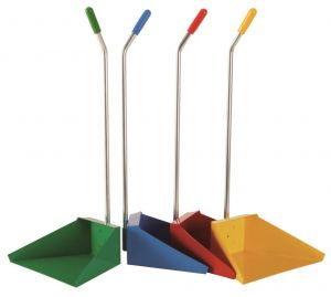 T718275 Dustpan with handle coloured (multiple 12 pieces)