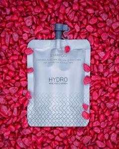 HY-0999 Shampoo  Doypack 30ml cosmetico al Fico e Cassis con estratti biologici di ribes nero 200 pezzi
