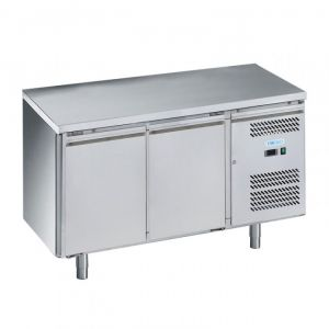 G-SNACK2100TN-FC Table réfrigérée ventilée 2 portes - Temp -2 ° + 8 ° C - Capacité Lt 159