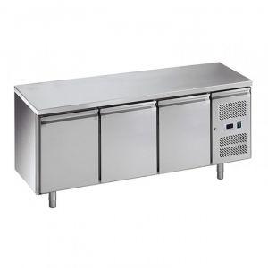 G-PA3100TN-FC Table réfrigérée pour pâtisserie - 3 portes - Temp -2 ° + 8 ° C - Capacité Lt 580
