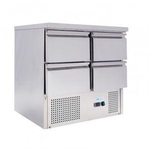 G-S901-4D-FC Saladette statique pour salades GN1 / 1 - 4 tiroirs - Capacité Lt 220