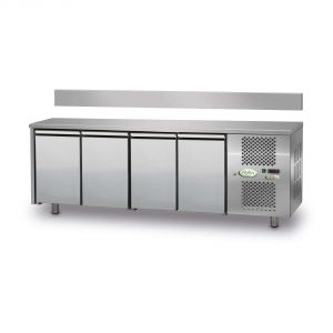 FTRA4TN - Mesa refrigerada ventilada de 4 puertas - 0 / + 10 ° - CON ELEVADOR