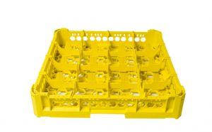PANIER GEN-K14x4 CLASSIQUE 16 COMPARTIMENTS CARRÉS - Hauteur verre 65mm