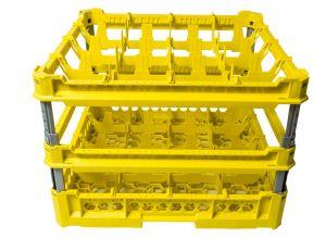 PANIER GEN-K44x4 CLASSIQUE 16 COMPARTIMENTS CARRÉS - Hauteur de tasse de 240 mm à 340 mm