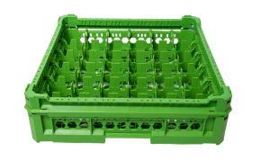 PANIER GEN-K26x6 CLASSIC 36 COMPARTIMENTS CARRÉS - Hauteur du verre de 65 mm à 120 mm