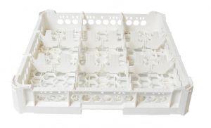 PANIER GEN-K13x3 CLASSIC 9 COMPARTIMENTS CARRÉS - Hauteur verre 65mm