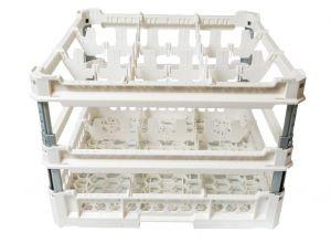 GEN-K43x3 CLASSIC BASKET 9 SQUARE COMPARTMENTS - Hauteur de tasse de 240 mm à 340 mm