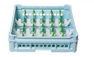 GEN-K23x6 CESTA CLASSICA 18 SCOMPARTI RETTANGOLARI - Altezza bicchiere da 65mm a 120mm