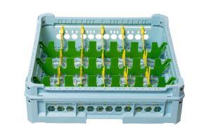 PANIER GEN-K34x6 CLASSIQUE 24 COMPARTIMENTS RECTANGULAIRES - Hauteur de tasse de 120 mm à 240 mm