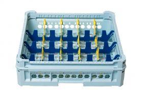 GEN-K24x5 PANIER CLASSIQUE 20 COMPARTIMENTS RECTANGULAIRES - Hauteur du verre de 65 mm à 120 mm