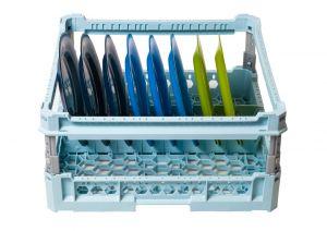 GEN-100108p Cesta especial para 8 platos con marco de protección