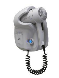 GHIBLI-W Ghibli Evo Sèche-cheveux blanc pour usage hôtelier Double prise USB