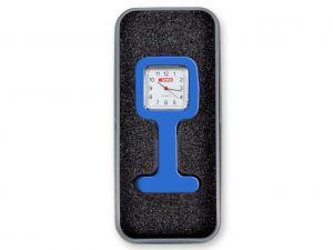 GI-20455 - OROLOGIO PER INFERMIERI con scatola alluminio - quadrato - blu