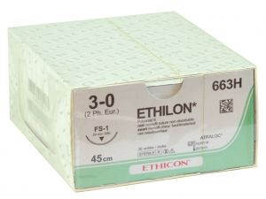 GI-22303 - SUTURA MONOFILAMENTO ETHICON ETHILON - 3/0 ago 24 mm
