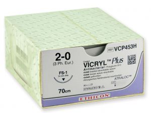 GI-22363 - SUTURA ASSORBIBILE ETHICON VICRYL PLUS - 3/0 ago 24 mm